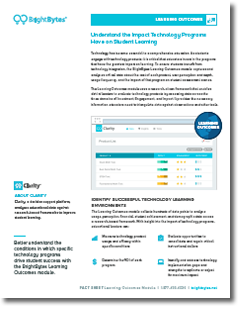 BrightBytes & Clarity Learning Outcomes Flyer