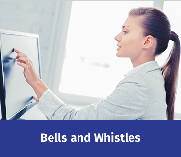 Click button to read about Bells and Whistles or features of R10 equipment