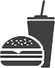 Icon for hamburger & drink