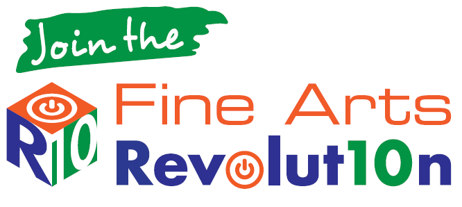 Join the Fine Arts Revolution.  Shows R10 Cube logo