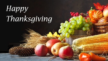 We will be closed Wednesday Nov. 21st to Friday Nov. 23rd for the Thanksgiving Holiday