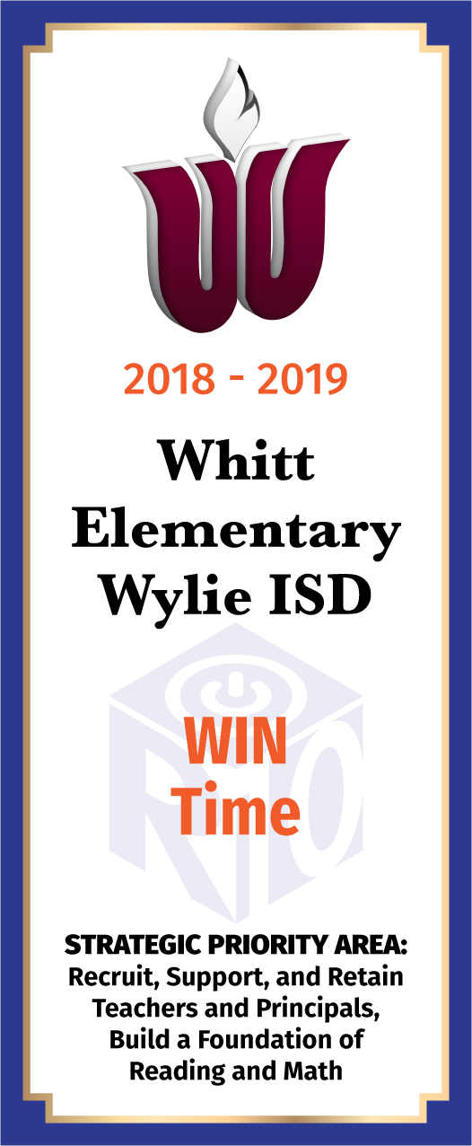 Whitt Elementary card WIN Time - front