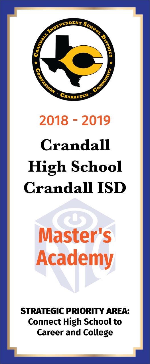 Crandall High School Card Master's Academy - front