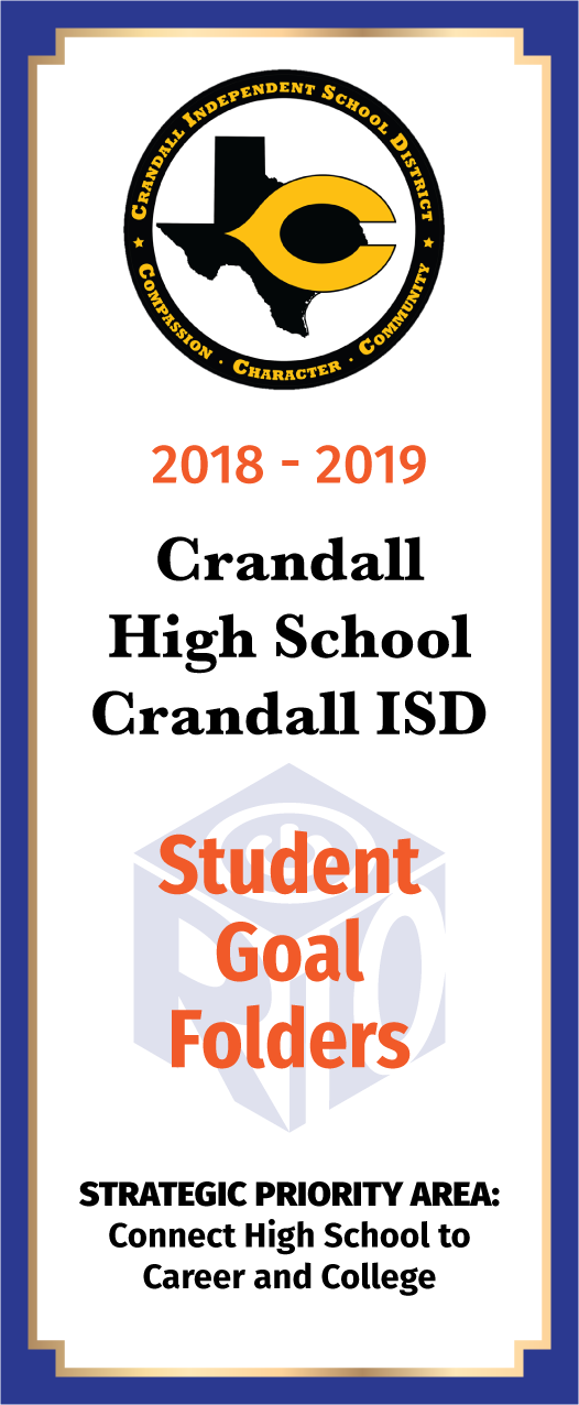 Crandall Elementary Card Student Goal Folders - front