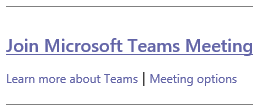 Join Microsoft Team Meeting link
