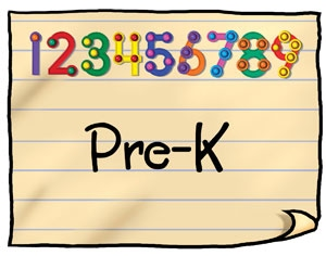 Pre-K with cartoon numbers 1-9