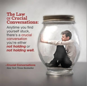 """crucial conversations case Each time we are faced with a problem, there is a conversation which needs to happen or a conversation has been badly handled the """"crucial conversations"""" training program provides the tools and essential techniques to know what to say and to have the courage to say it in any situation the result of."""